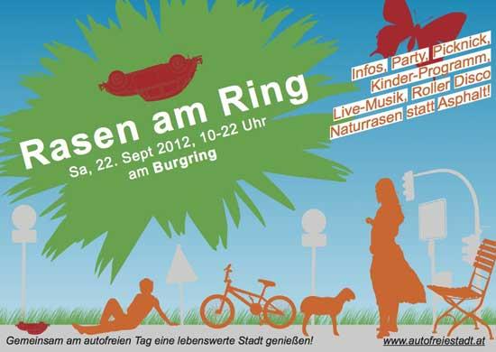 Rasen am Ring, Samstag, dem 22.September 2012 von 10°° - 22°° Uhr, Burgring
